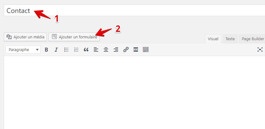 Créer une page de contact wpforms