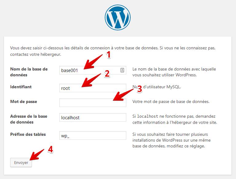 installer wordpress en local etape 2