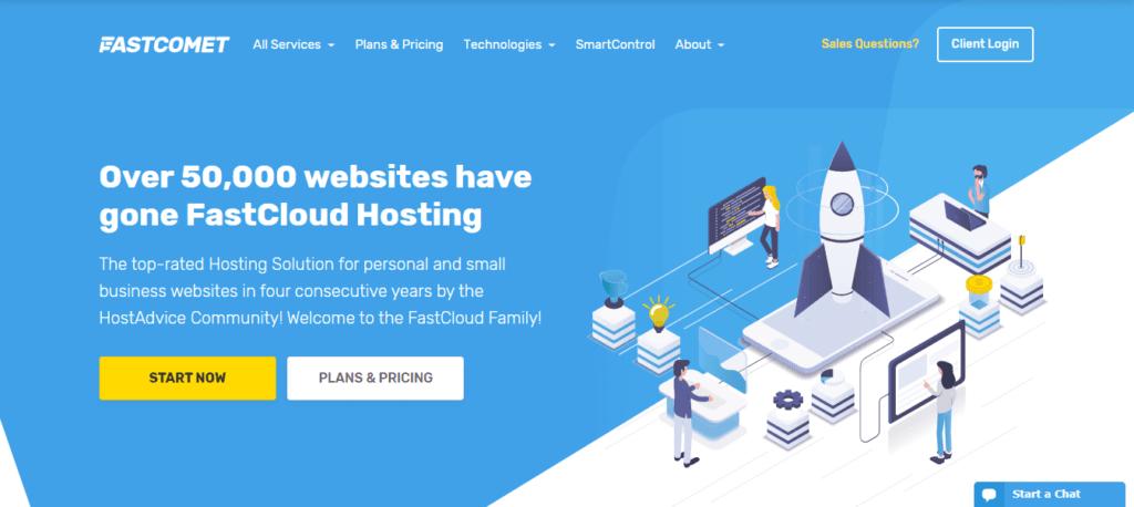 Fastcomet hébergement web fiable avec SSL gratuit