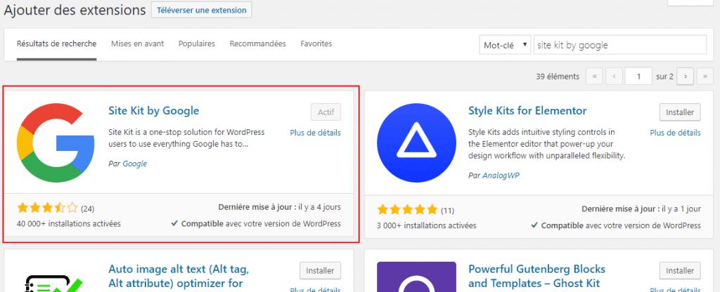 Installer Site kit by google