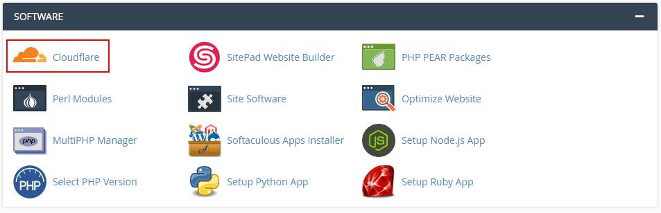 Installer cloudflare via cPanel