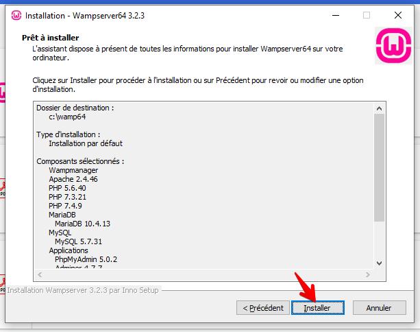 Installation WampServer