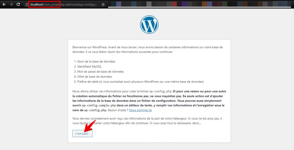 Installation WordPress - Etape 01